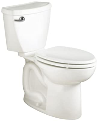 American Standard Cadet 3 Right Height Elongated Flowise Two-Piece High Efficiency Toilet with 10-Inch Rough-In, White White