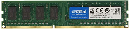 (Crucial 4GB, 240-pin DIMM, DDR3 PC3-12800,)