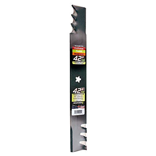 MaxPower 331713X Heavy Duty Commercial Mulching Blade for 42 Craftsman/Husqvarna/Poulan, Replaces 134149, 138971, 138498, 127843, PP24003