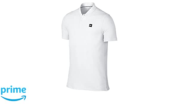 dd9f6e3d9 Amazon.com: Nike TR Dry Blade Men's Slim Fit Golf Polo Shirt, White,  Medium: Clothing