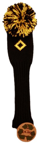 Knitted Collection (AB Golf Designs Throwback Collection Knitted Utility Head Cover (Black/Yellow))