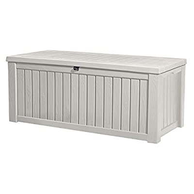 Keter Rockwood Jumbo 150 GL / 570 L White Outdoor Deck Storage Box