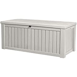 Keter Rockwood Jumbo 150 GL / 570 L White Outdoor Deck Storage Box