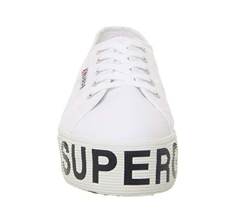 W Cotu Lettering Calzado Superga Outsole White 270 0ZwqPaSE