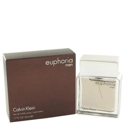 CK Euphoria Men Eau De Toilette Spray 1.7 OZ/50 ml (Euphoria Perfume For Men)