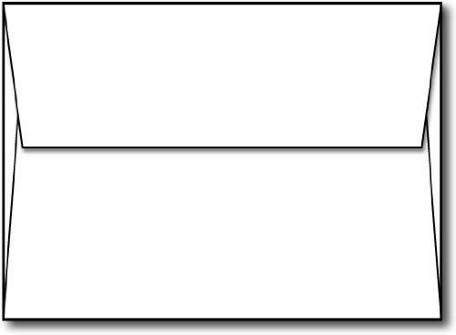 Envelope, White A7 5 1/4 x 7 1/4 Square Flap - 100 Envelopes - Desktop Publishing Supplies™ Brand Envelopes