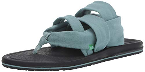 Sanuk Women's Yoga Sling 3 Flat Sandal, Mineral Blue, 05 M US from Sanuk