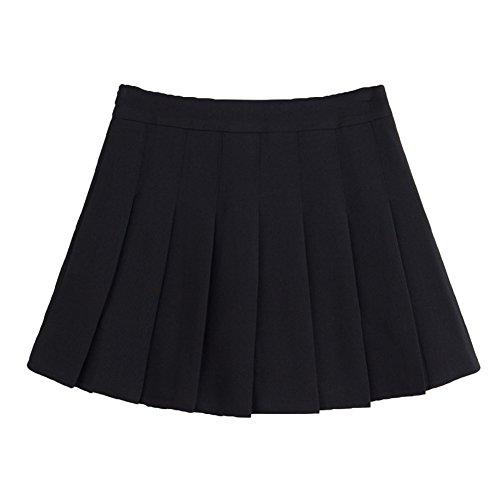 Tennis Robe plisse Haute Juleya Mini de Women Slim Jupes Noir Taille Girl qpxa1wg7