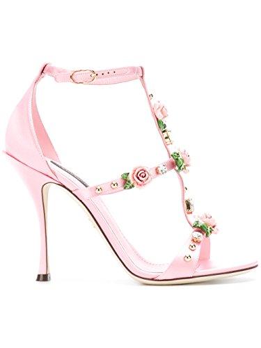 Dolce e Gabbana Women's Cr0503an1538l149 Pink Viscose Sandals