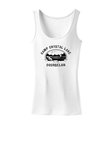 (Camp Crystal Lake Counselor - Friday 13 Womens Tank Top - White -)