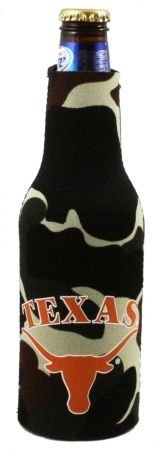 (Texas Longhorns Camo Bottle Suit Koozie)