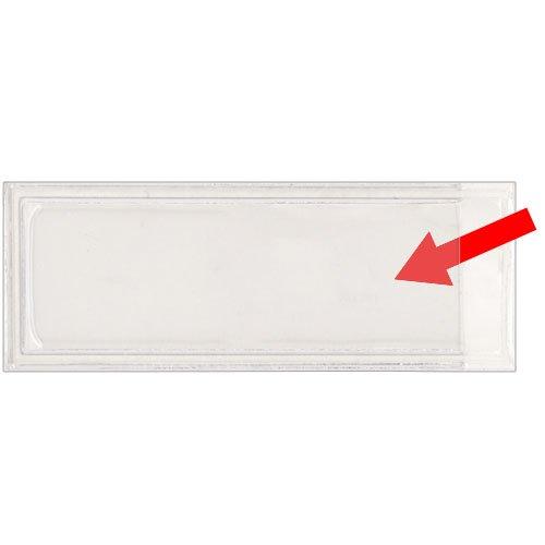 "StoreSMART - Peel & Stick 5/8"" x 2 5/16"" Shelf Tag/Label Holders - 25-Pack - Open Short Side - STB861S-25"