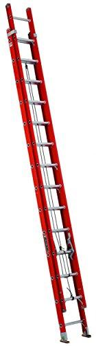 Louisville Ladder L-3025-28 Type IA Load Capacity Light Fiberglass Extension Ladder, 28'/300 - Ladders Feet Fiberglass 28