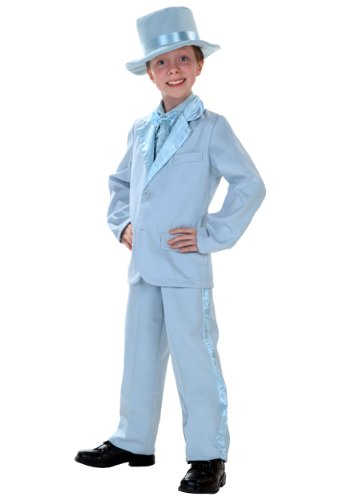 Child Blue Tuxedo Costume Medium (8-10)