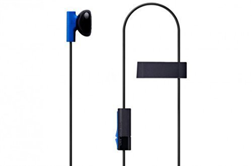MKK 2 Pack Mono Chat Game Gaming Earbuds Earpiece earphones Headphones Headset with Mic Microphones for PS4 Playstation -