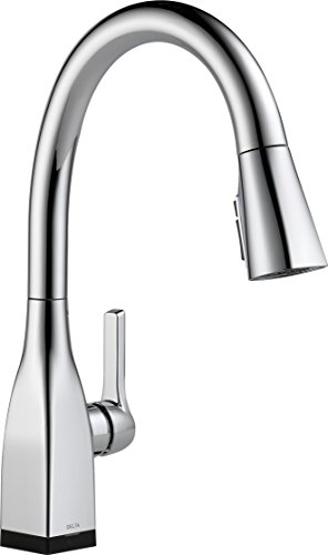 Delta Faucet Mateo Single-Handle Touch Kitchen Sink Faucet with Pull Down Sprayer, Touch2O and ShieldSpray Technology, Magnetic Docking Spray Head, Chrome ()