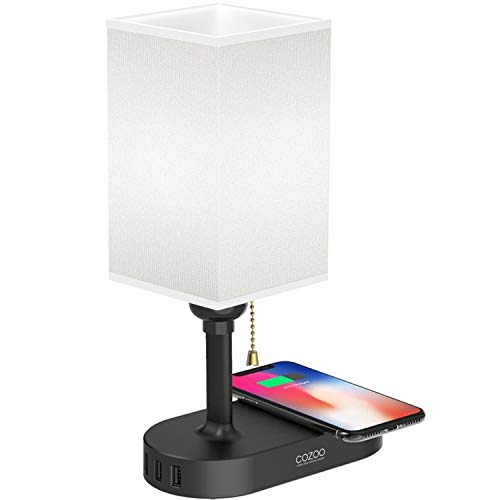 Qi Bedside Lamp Cozoo Usb Bedside Table Amp Desk Lamp With 3