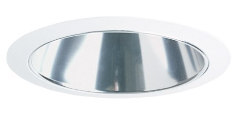 Juno Lighting 257C-WH 6-Inch PAR30 Deep Cone, Clear Alzak with White Trim by Juno Lighting Group