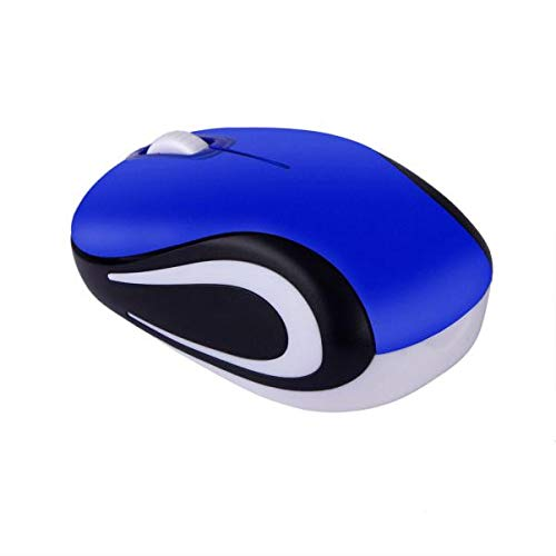 FDBZJP 2.4G Wireless Mouse Gaming Mouse Portable Mouse Computer Mouse with USB Receiver, 3 Adjustable DPI Levels, for Computers and Laptops, Blue