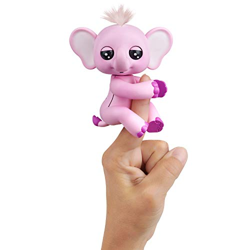 WowWee Fingerlings Baby Elephant - Nina (Pink) - Interactive Toy