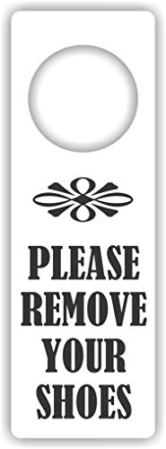 MySigncraft Please Remove Your Shoes Door Hanger Sign -