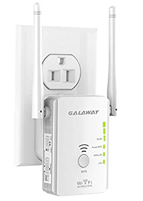GALAWAY WiFi Extender 300Mbps Wireless Repeater Network Signal Booster with Dual External Antennas Comply with 802.11n/g/b
