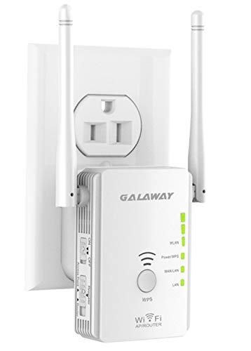 GALAWAY WiFi Booster 300Mbps WiFi Range Extender 2.4GHz Wireless WiFi Repeater with External Antennas