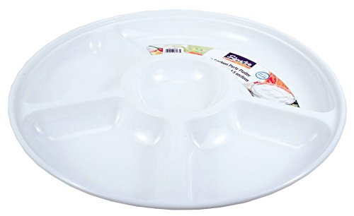 5 Divided Section Round Platter, 12.75