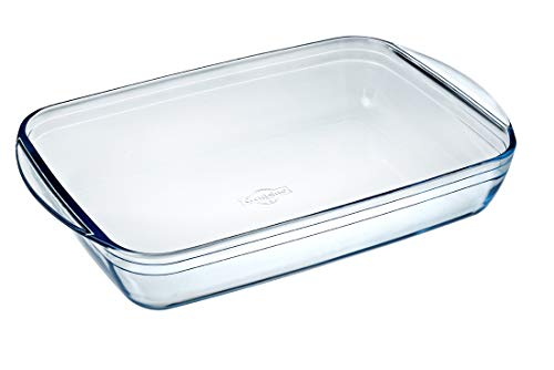Ôcuisine 240BC00 Rectangular Roaster, 4.5 L, Clear