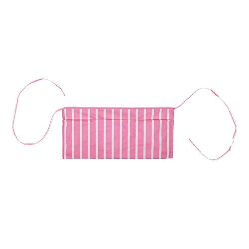 DALIX Waist Aprons Commercial Restaurant Home Bib Spun Poly Cotton Kitchen Pinstripe Pink - Pinstripe Apron