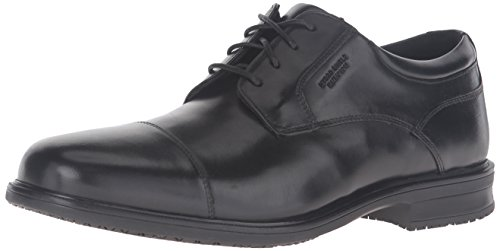 ROCKPORT Men Esntial Dtlii Captoe Shoes Black Lea