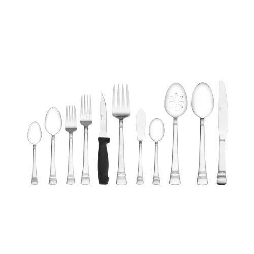 Pfaltzgraff Sapphire Bay 53-Piece Stainless Steel Flatware Set, Service for 8