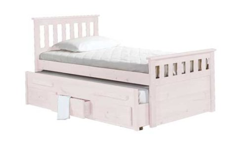 WHITE WASH CAPTAINS BED WITH PULL OUT BED AND 3 STORAGE DRAWERS:  Amazon.co.uk: Kitchen U0026 Home