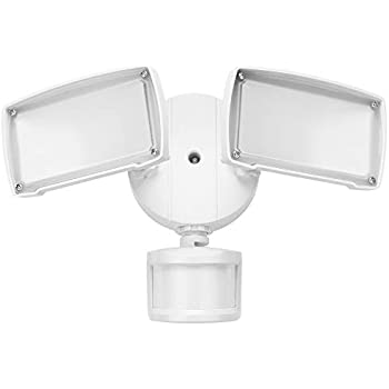 UL-listed Dual Head LED Outdoor Security Light, Motion Activated+Dusk to Dawn, 4 Modes Area Lighting, 20W (150W Equivalent), ENERGY STAR, 5000K Daylight, ...