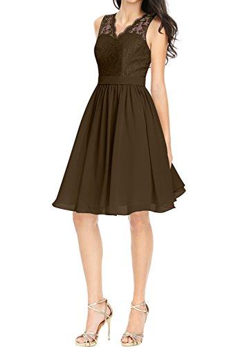 Partykleid Ivydressing Spitze Ballkleider Linie A Kurz Abendkleider Schokolade Promkleid Spitze Damen HCnx4HwqP