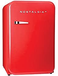 Nostalgia RFF38SDRD Retro Series 3.8-Cubic Foot Refrigerator with Freezer