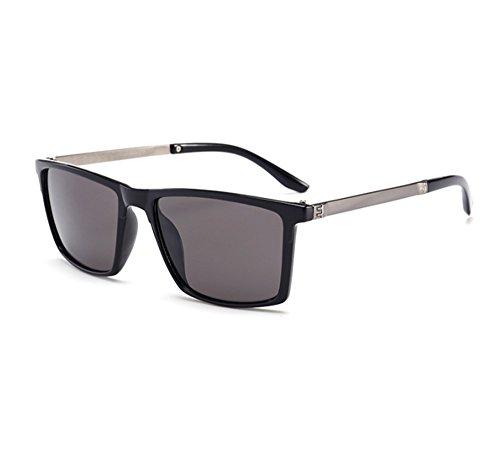Driving Gris carrée monture polarisées classique soleil Glasses Hellomiko Noir Glare pour Lunettes hommes de XOwxHv