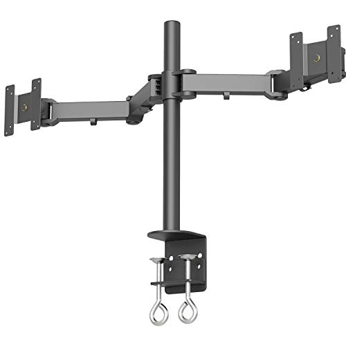 (Tyke Supply Dual LCD Monitor Stand Desk clamp Holds up to 24