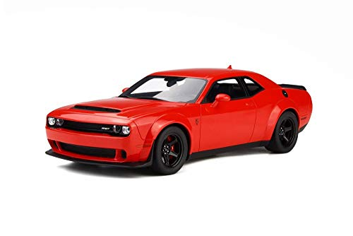 Challenger Hardtop - GT Spirit 2018 Dodge Challenger Demon Hard Top, Red GT213 - 1/18 Scale Resin Model Toy Car