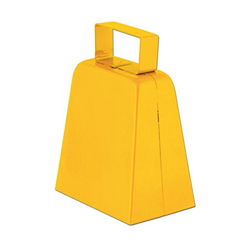 Club Pack of 12 Yellow Country Farm-Style Cowbells Party Favor Decorations 4