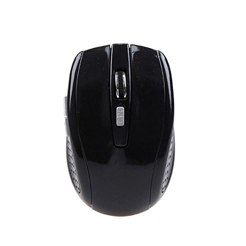 Super Mini Rf Wireless Optical Mouse (Tloowy Rechargeable Wireless Mini Bluetooth 3.0 6D 1600DPI Optical Gaming Mouse Mice (Black))