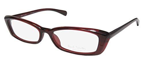 Paul Smith 406 For Ladies/Women Cat Eye Full-Rim Shape Upscale Popular Style Eyes Eyeglasses/Eyeglass Frame (52-16-138, Burgundy) (Cats Eye Brille)