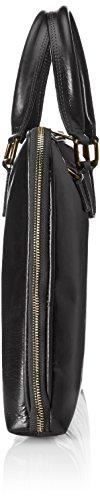 en 38x28x7cm Nero de femmes véritable cuir Noir Fabriqué de serviette de sac Italie 100 travail CTM 0BUx7FqwF