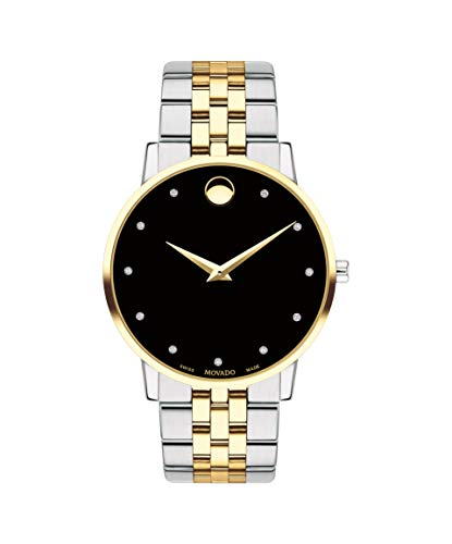 Movado Museum Classic, Stainless Steel & Yellow Pvd Case, Black Dial, Stainless Steel & Yellow Pvd Bracelet, Men, 0607202 ()