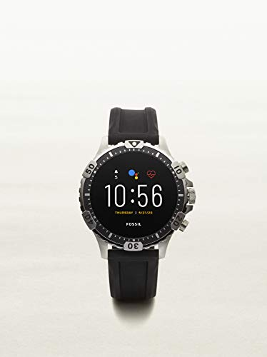 Fossil Gen 5 Garrett HR Heart Rate Stainless Steel Touchscreen Smartwatch, Color: Gunmetal (Model: FTW4041)