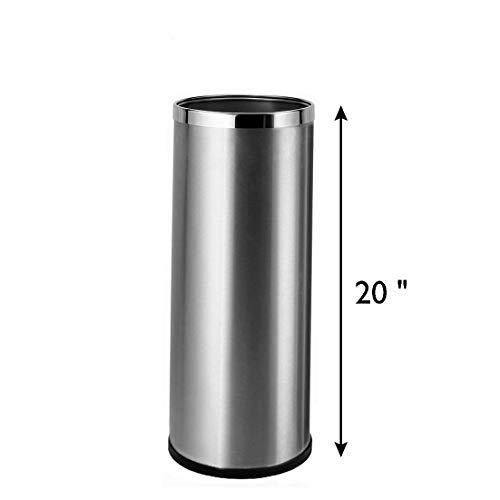 (Bennett Umbrella Stand, Stainless Steel Round Style, w/Removable Inner Bucket 20