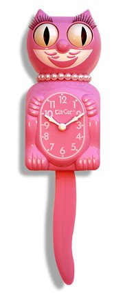 Kit-Cat Klock The Original Lady Kit-Cat, Honeysuckle Pink, 1