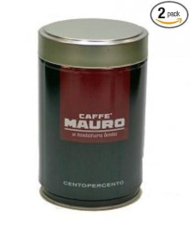 Caffe Mauro CENTOPERCENTO - Cafetera italiana con asados (2 ...