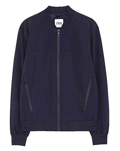 Zara Men Bomber Jacket 3918/410 (XX-Large) Blue for sale  Delivered anywhere in USA