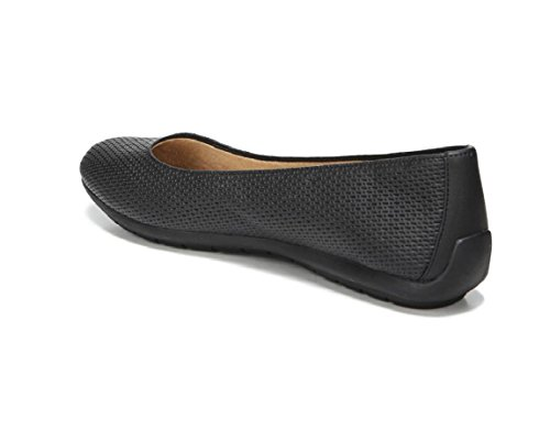 Black W Women's Naturalizer Flat 8 Una Black US Embossed WAfIfzq